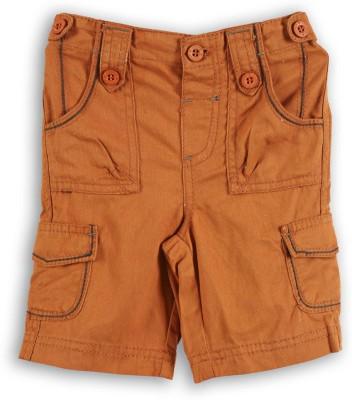 Lilliput Solid Baby Boys Orange Bermuda Shorts