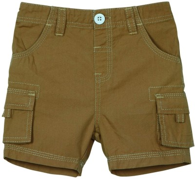 Mom & Me Solid Baby Boy's Brown Cargo Shorts