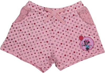 Mickey & Friends Printed Girl's Pink Basic Shorts