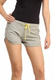 Cation Solid Women's Grey Sports Shorts