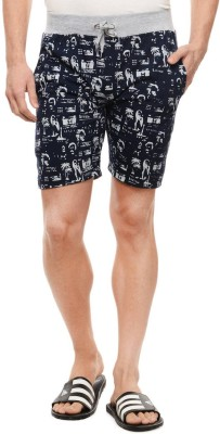 Rose Taylor Printed Men's Blue Beach Shorts