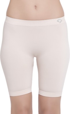 C9 Solid Women's Beige Cycling Shorts
