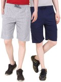 Nicewear Solid Men's Grey, Blue Basic Sh...