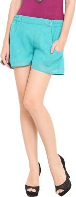 Trend Arrest Solid Women's Green Basic Shorts