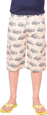 Zrestha Printed Men's Beige Basic Shorts