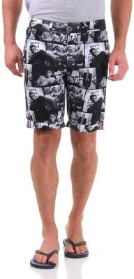 Jack & Jones Graphic Print Men's Black Basic Shorts
