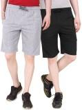 Nicewear Solid Men's Grey, Black Basic S...