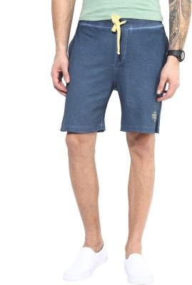 MONTEIL & MUNERO Solid Men's Dark Blue Chino Shorts