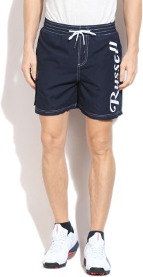 Russell Athletic Solid Men's Dark Blue Sports Shorts