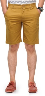 Haute Couture Solid Men,s Beige Chino Shorts