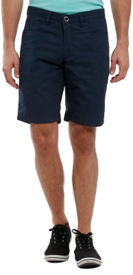 Parx Solid Men's Reversible Dark Blue Basic Shorts