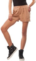Orous Solid Women's Brown Hotpants