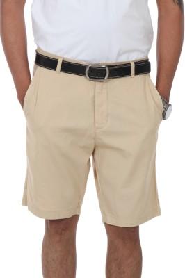 Irene Solid Men's Beige Basic Shorts