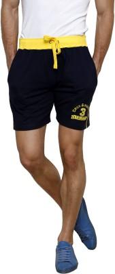 Gen Self Design Men's Blue Basic Shorts