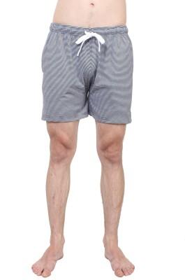 SayItLoud Striped Men's Black, White Gym Shorts