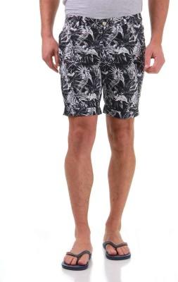 Jack & Jones Printed Men's Black Basic Shorts