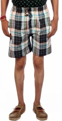AADUKI Checkered Men's Multicolor Bermuda Shorts