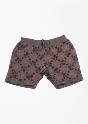CIVIL WAR Printed Boy's Grey Basic Shorts