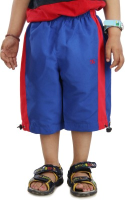 Dazzgear Solid Boy's Blue Basic Shorts