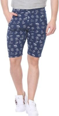 TAB91 Printed Men's Blue Basic Shorts