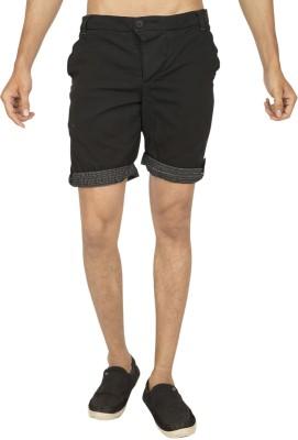 Truccer Basics Solid Men's Black Cargo Shorts