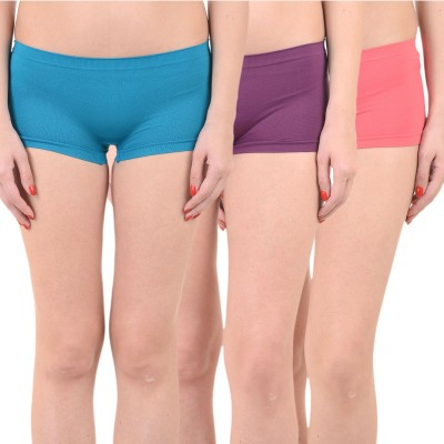 Mynte Solid Women's Blue, Purple, Red Cycling Shorts, Gym Shorts, Swim Shorts