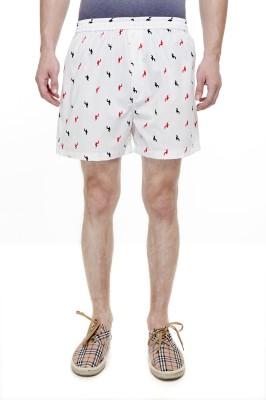 Trends Printed Men's White Boxer Shorts