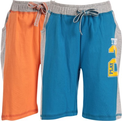 Posh Kids Solid Boy,s Multicolor Basic Shorts