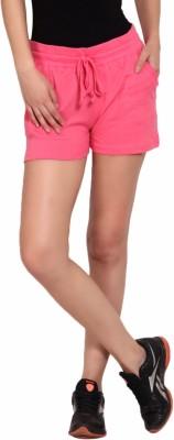 Yogaandsportswear Solid Women's Pink Basic Shorts