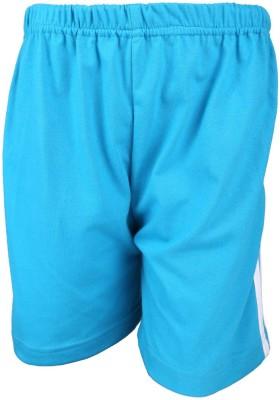 Lava Solid Boy's Blue Bermuda Shorts