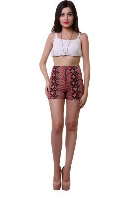 Belle Fille Printed Women,s Multicolor Basic Shorts