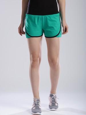 HRX by Hrithik Roshan Solid Women's Blue Sports Shorts at flipkart