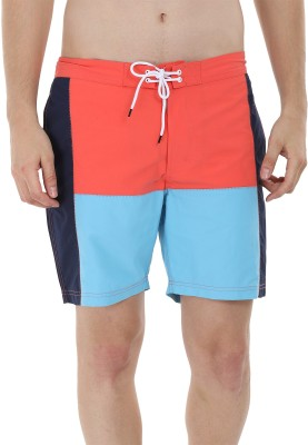 Zobello Solid Mens Multicolor Swim Shorts