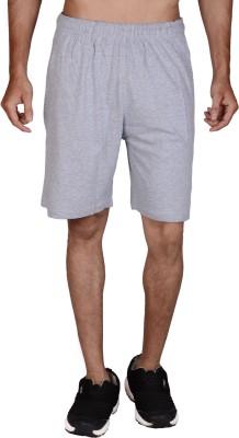 Wermin Solid Men,s Grey Basic Shorts