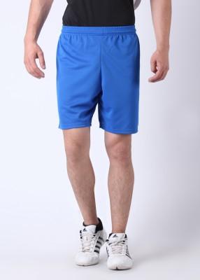 Kipsta Solid Men's Blue Sports Shorts