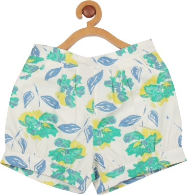 My Lil,Berry Printed Girl's White Basic Shorts