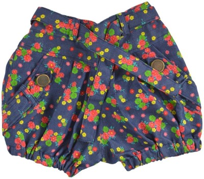 Shree Mangalam Mart Floral Print Girl's Multicolor Basic Shorts