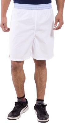 Tam Creatio Solid Men's White Sports Shorts