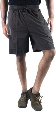 0-Degree Solid Men's Grey Chino Shorts