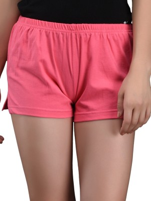 Finesse Solid Women's Pink Hotpants