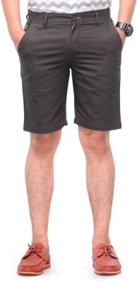 Haute Couture Solid Men,s Dark Green Chino Shorts