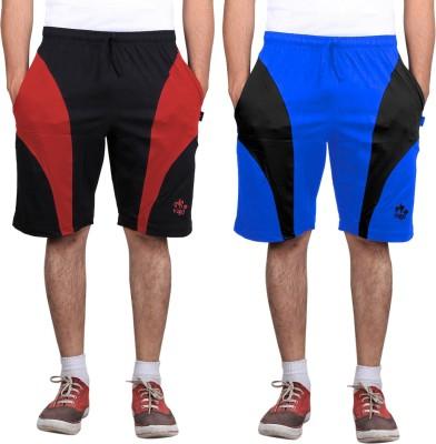 Vego Self Design Men,s Blue Sports Shorts