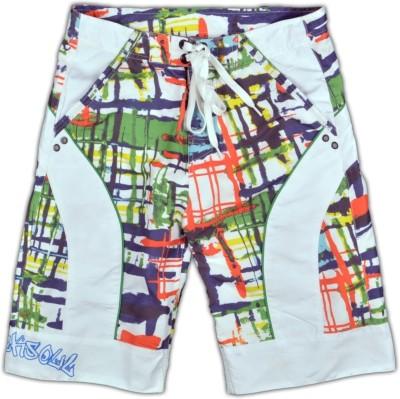 Blacksoul Printed Men's Multicolor Beach Shorts