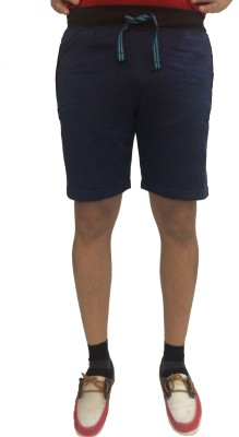 London Eye Printed Men's Dark Blue Gym Shorts