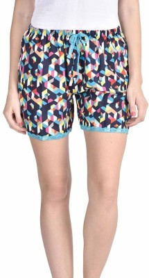 Lenora Printed Women's Black, Green Boxer Shorts