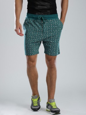 HRX by Hrithik Roshan Printed Men's Blue Basic Shorts