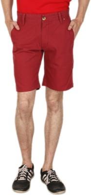 Blimey Solid Men's Maroon Chino Shorts