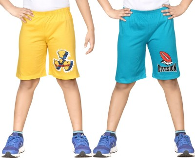 Dongli Printed Boys Yellow, Blue Sports Shorts