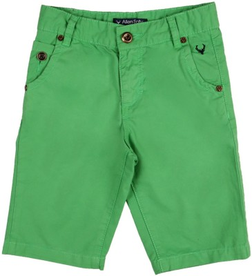 Allen Solly Solid Boy's Green Bermuda Shorts