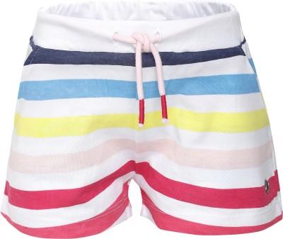 FS Mini Klub Striped Girl's Pink Basic Shorts